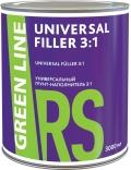 ГРУНТ-НАПОЛНИТЕЛЬ УНИВЕРСАЛЬНЫЙ ЧЁРНЫЙ GREEN LINE UNIVERSAL FILLER 3:1, 3000 МЛ