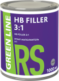 ГРУНТ-НАПОЛНИТЕЛЬ СЕРЫЙ GREEN LINE RS HB FILLER 3:1, 1000 МЛ