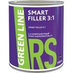 ГРУНТ-НАПОЛНИТЕЛЬ ДВУХКОМПОНЕНТНЫЙ СЕРЫЙ GREEN LINE SMART FILLER 3:1, 3000 МЛ